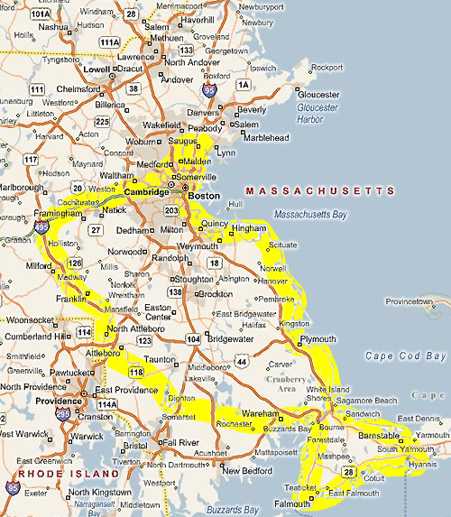 Southeastern Massachusetts Service Areas For Curbside